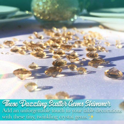 diamond table conffeti gold