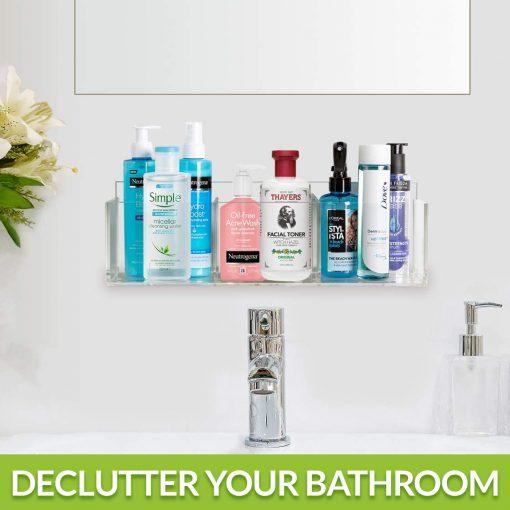 easy to install bathroom organizer