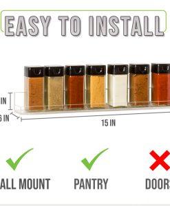 easy to install spice rack amazon