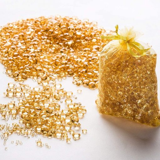 gold confetti diamonds