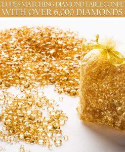 gold diamond table confetti