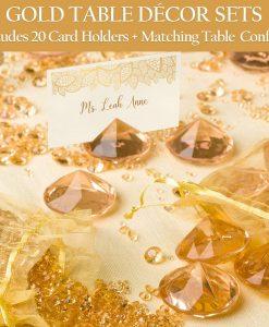 gold placecard holder diamond amazon