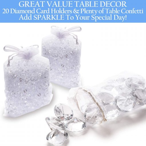 great value placecard holder table confetti