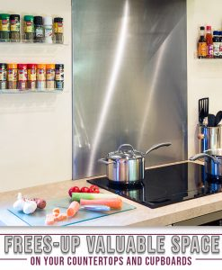 invisible acrylic spice rack