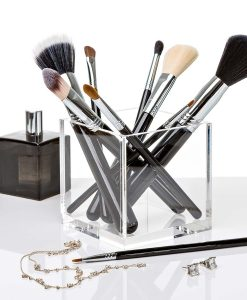 makeup brushes and blender acrylic blender