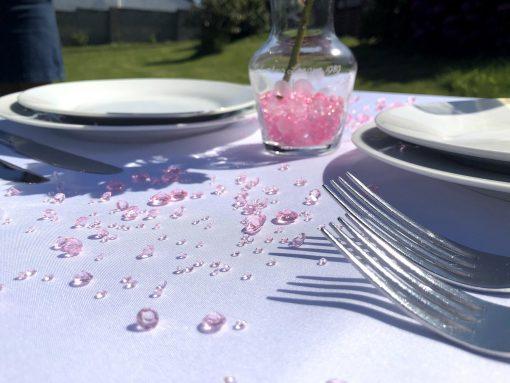 pink diamond confetti pretty display