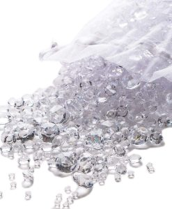 pretty display table diamond confetti clear