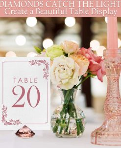 rosegold placecard holder