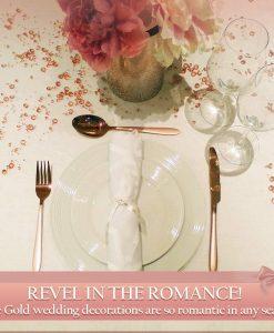 rosegold table confetti