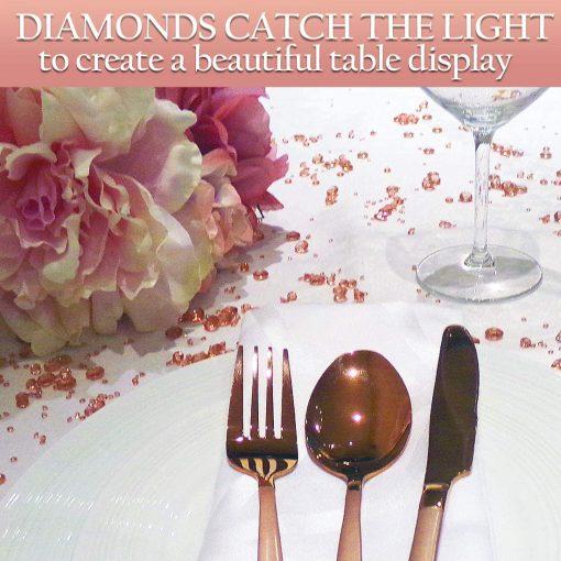 rosegold diamond confetti