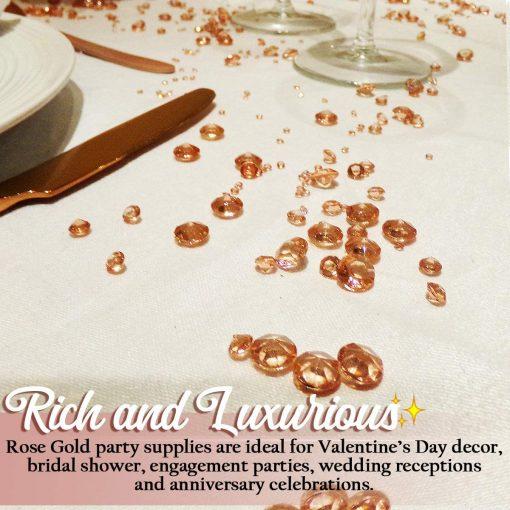 table confetti rosegold amazon