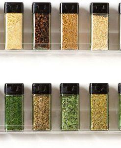 acrylic spice rack wall mount