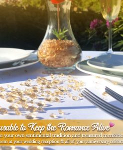 table confetti gold for weddings